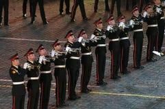 Orkiestra Moskwa Suvorov Militarna Muzyczna szkoła wyższa Fotografia Royalty Free