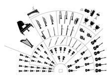 orkiestra symfonii Fotografia Stock
