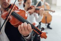 Orkiestry smyczkowej sekci spełnianie Zdjęcia Royalty Free