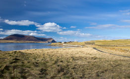 Orkney coast with Island of Hoy in the distance Royalty Free Stock Image