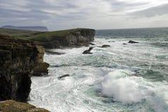 orkney nad burzą yesnaby Fotografia Royalty Free