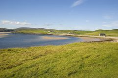 Orkney's quiet bay Stock Image