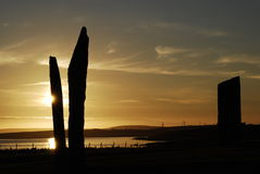 orkney stenness Royaltyfria Foton