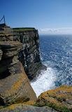 Orkney westray cliff Obrazy Royalty Free
