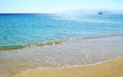 Orkos beach at Naxos island Cyclades Greece stock photos