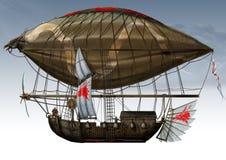 Orks Zeppelin. Illustration Hand drawn Stock Image