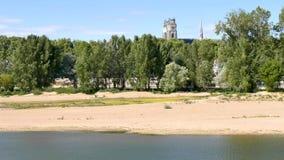 Orléans jest miastem Francja Loire katedra i rzeka zbiory wideo