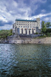 Orlík castle. A view on the Orlík castle from the dam Stock Image