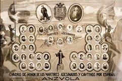 Orla Antzuola karliści spanish cywilna wojna zdjęcia stock