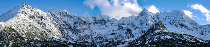 Orla Perc od Gąsienicowej. View of Eagle Trail Summits in the High Tatras Mountain Stock Photography