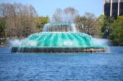 Orlando湖Eola喷泉 免版税库存照片