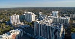 Orlando aerial skyline along Lake Eola stock image
