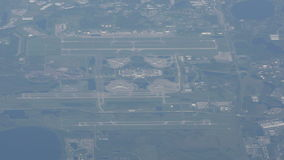 Orlando airport from above stock video