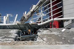Orlando Amway Arena Demolition (2) Royalty Free Stock Images