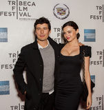 Orlando Bloom and Miranda Kerr. Arrive on the red carpet of the Tribeca Performing Arts Center in New York City on April 22, 2011,  for the premiere of his Stock Photography