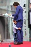Orlando Bloom /son Flynn Foto de archivo