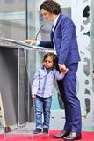 Orlando Bloom /son Flynn Imagen de archivo