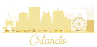 Orlando City-horizon gouden silhouet stock illustratie