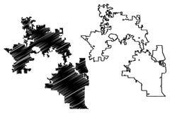 Orlando City-kaartvector vector illustratie