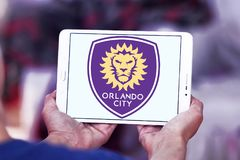 Orlando City Soccer Club-Logo stockfotografie