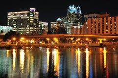 Orlando da baixa na noite Imagens de Stock Royalty Free
