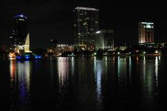 Orlando del centro alla notte fotografia stock