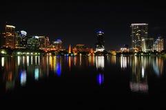 Orlando del centro alla notte Fotografia Stock Libera da Diritti