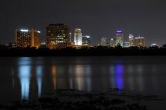 Orlando del centro alla notte immagini stock libere da diritti