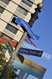 Orlando Directional Sign Post Royalty Free Stock Image