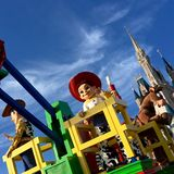 Orlando Disney world Christmas holidays parade Stock Images