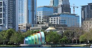 Orlando Downtown City Skyline From See Eola-Park Orlando stock footage