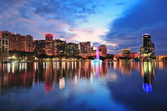Orlando downtown dusk Royalty Free Stock Image