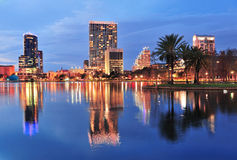 Orlando downtown dusk Royalty Free Stock Photo