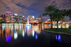 Orlando downtown dusk Stock Image