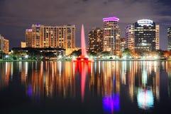 Orlando downtown dusk Stock Photos