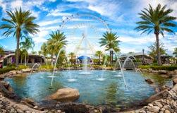 Orlando en het grootste observatiewiel op de oostkust stock afbeelding