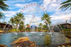 Orlando en het grootste observatiewiel op de oostkust royalty-vrije stock afbeelding