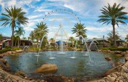 Orlando en het grootste observatiewiel op de oostkust royalty-vrije stock foto's