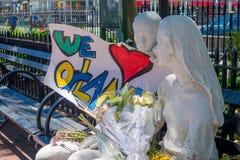 ORLANDO, EUA - 5 DE MAIO DE 2017: Lugar onde Omar Mateen, matado 49 povos e ferido 53 outro em um ódio do ataque terrorista Fotos de Stock Royalty Free