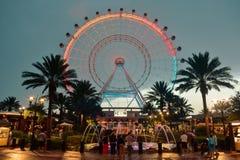 Orlando Eye är hjul för 400 ferris för fot ett högväxt, i hjärtan av internationellt drevområde arkivbilder