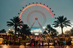 The Orlando Eye is a 400 feet tall ferris wheel, in the heart of International Drive area. royalty free stock photos
