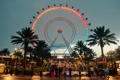 The Orlando Eye is a 400 feet tall ferris wheel, in the heart of International Drive area. stock images