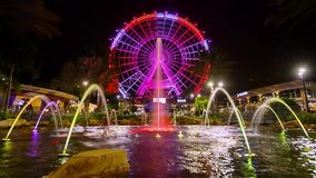 Orlando Eye observation wheel stock video footage