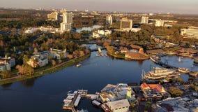 ORLANDO FEB 6: Aerial view of Orlando in Orlando, Florida stock footage