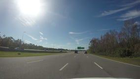 ORLANDO, FL, FEB 7: POV of highway, Orlando Florida. On Feb 7, 2019 stock video