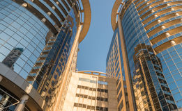 ORLANDO, FL - FEBRUARY 17, 2016: Modern buildings of city center. Orlando is a famous attraction in Florida Royalty Free Stock Photography