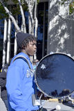 ORLANDO FL- January 18, 2014 - The Martin Luther K. ORLANDO FL- January 18, 2014 - Portrait of  bass drum player during the Martin Luther King Parade in Orlando Stock Image