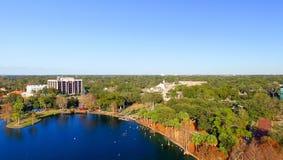 ORLANDO FL, LUTY, -, 2016: Widok z lotu ptaka miasto linia horyzontu along Zdjęcia Stock