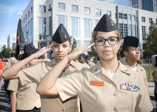 ORLANDO FL - November 9, 2013 -  Veteran s Day Parade in Orlando Stock Photography
