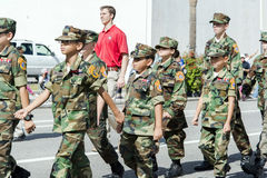 ORLANDO FL - November 9, 2013 -  Veteran's Day Parade in Orlando Royalty Free Stock Photo
